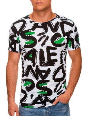 Balti marginti vyriški marškinėliai internetu pigiau S1393 19964-1