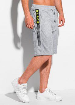 Pilki sportiniai šortai vyrams internetu pigiau W343 20001-3