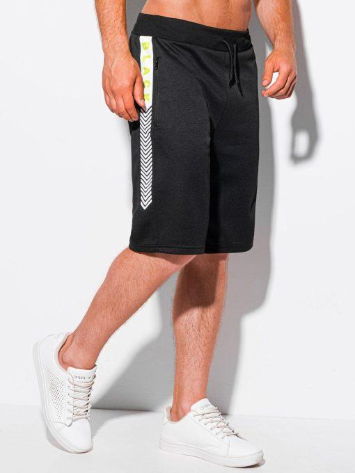 Juodi sportiniai šortai vyrams internetu pigiau W343 20002-3