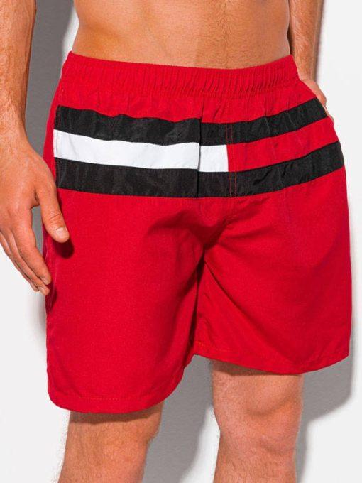Raudoni maudymosi šortai vyrams internetu pigiau W344 20005-2