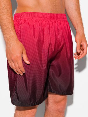 Raudoni maudymosi šortai vyrams internetu pigiau W345 20025-2