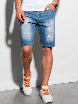 Mėlyni plėšyti džinsiniai šortai vyrams internetu pigiau W306 20040-1