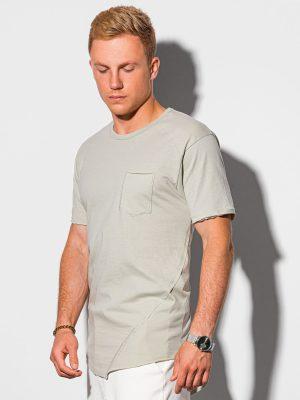 Pilki vyriški marškinėliai su kišenėle internetu pigiau S1384 20061-1