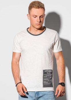 Balti vyriški marškinėliai su užrašu internetu pigiau S1383 20062-1