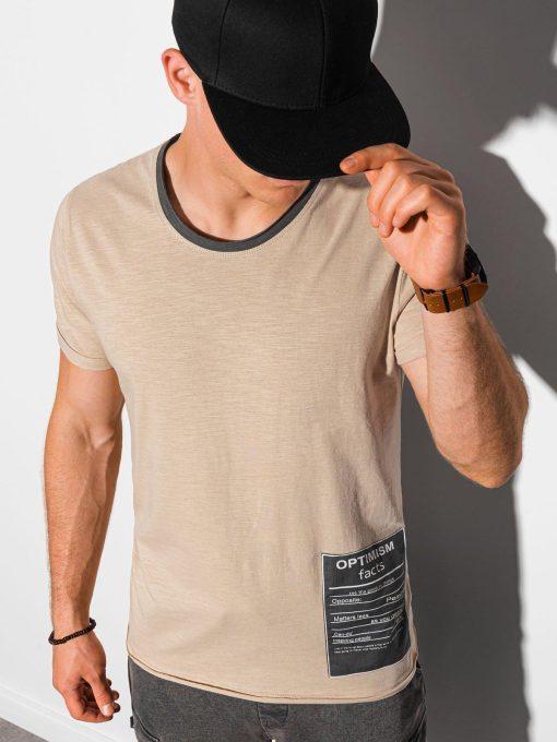 Rusvi vyriški marškinėliai su užrašu internetu pigiau S1383 20064-1