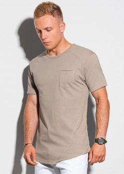 Peleniniai vyriški marškinėliai su kišenėle internetu pigiau S1384 20067-5