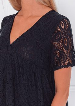 Juoda neriniuota moteriska suknele internetu pigiau DLR024 20083-3