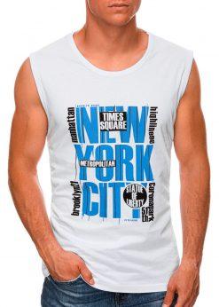 Balti vyriški marškinėliai be rankovių internetu pigiau S1471 20132-1