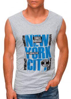 Pilki vyriški marškinėliai be rankovių internetu pigiau S1471 20133-1