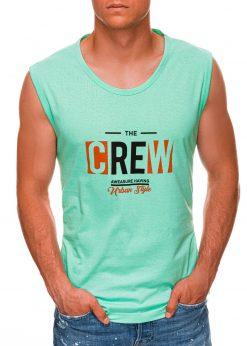 Mėtiniai vyriški marškinėliai be rankovių internetu pigiau S1470 20140-1