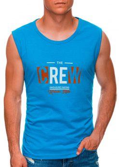 Mėlyni vyriški marškinėliai be rankovių internetu pigiau S1470 20144-1