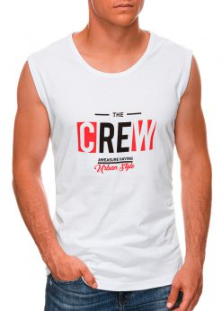 Balti vyriški marškinėliai be rankovių internetu pigiau S1470 20147-1
