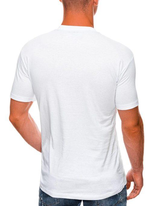 Balti marskineliai su kaukole internetu pigiau S1469 20153-2