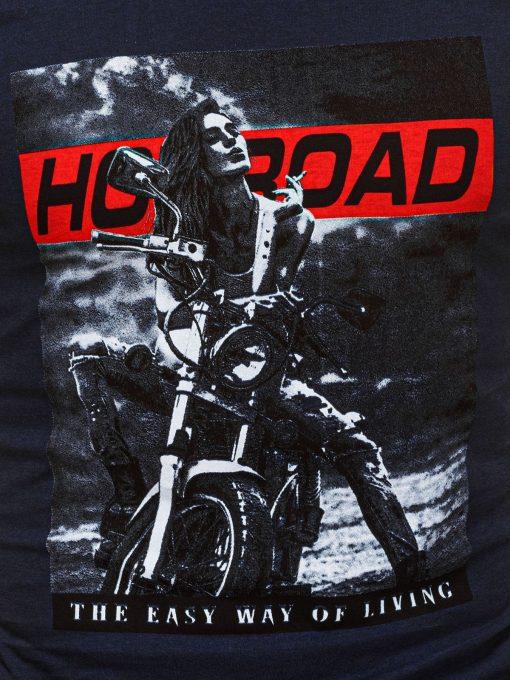 Vyriski marskineliai su motociklu internetu pigiau S1468 20182-2