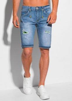 Šviesiai mėlyni džinsiniai šortai vyrams internetu pigiau W354 20213-1