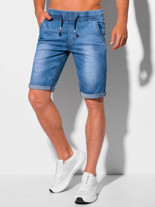 Šviesiai mėlyni džinsiniai šortai vyrams internetu pigiau W358 20266-4