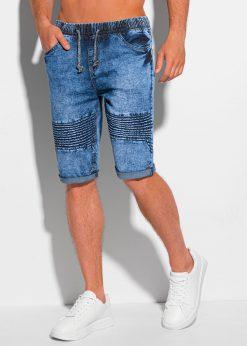 Mėlyni džinsiniai šortai vyrams internetu pigiau W357 20268-4
