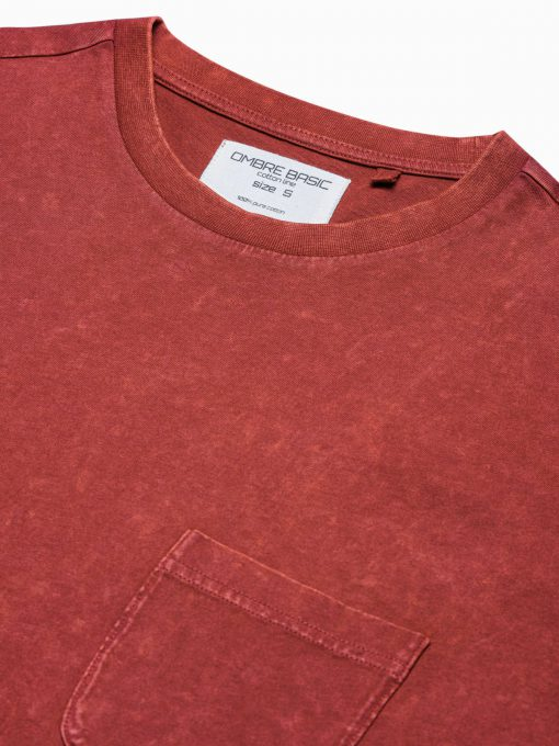 Vyriški marškinėliai su kišenėle internetu pigiau S1375 19409-4