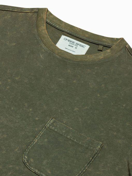 Vyriški marškinėliai su kišenėle internetu pigiau S1375 19410-4