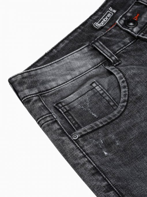 Juodi džinsiniai šortai vyrams internetu pigiau W306 20039-6