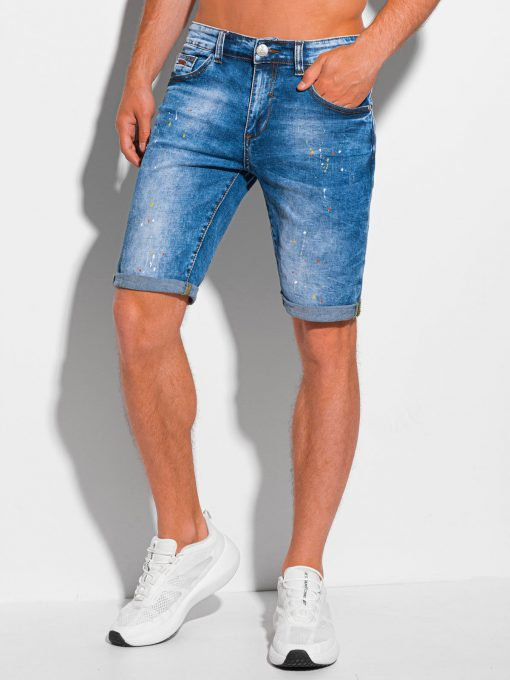 Šviesiai mėlyni džinsiniai šortai vyrams internetu pigiau W356 20269-3