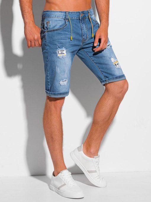 Šviesiai mėlyni džinsiniai šortai vyrams internetu pigiau W355 20270-1