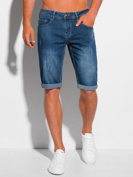 Mėlyni džinsiniai šortai vyrams internetu pigiau W353 20271-1