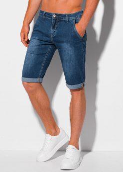 Mėlyni džinsiniai šortai vyrams internetu pigiau W352 20272-1
