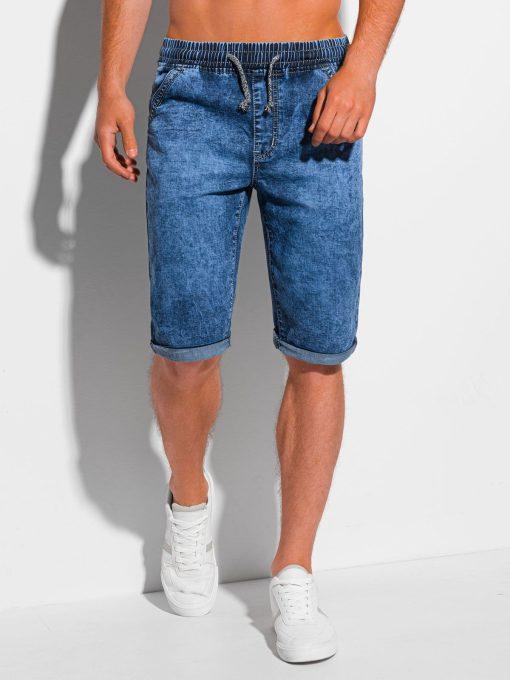 Mėlyni džinsiniai šortai vyrams internetu pigiau W351 20321-3