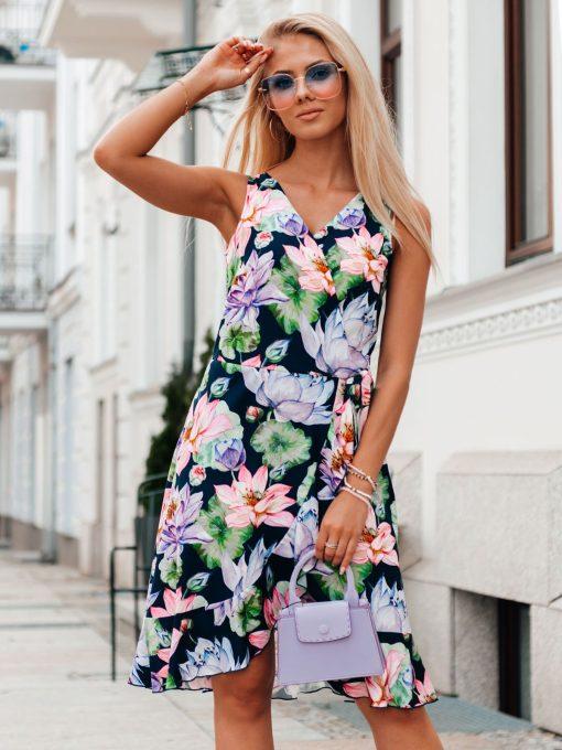 Rožinė vasarinė moteriška suknelė internetu pigiau DLR019 20322-3