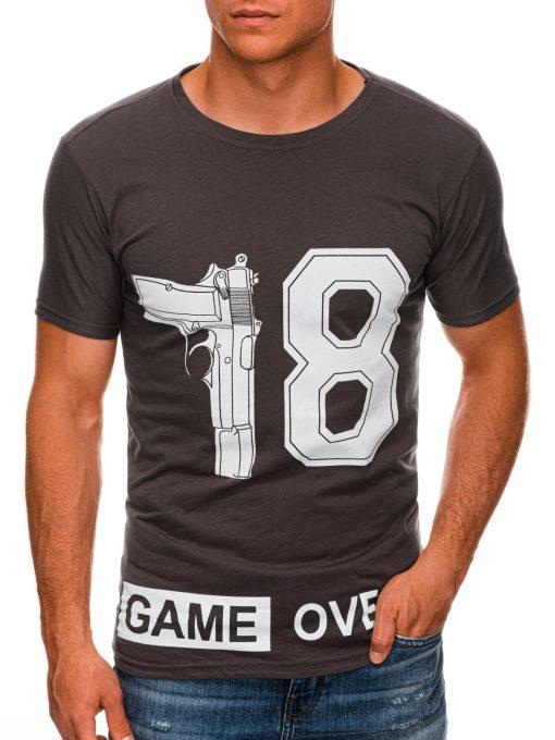 Rudi vyriški marškinėliai su užrašu internetu pigiau S1478 20345-1