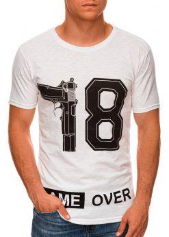 Rusvi vyriški marškinėliai su užrašu internetu pigiau S1478 20347-1