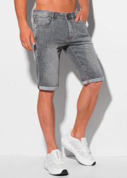 Pilki džinsiniai šortai vyrams internetu pigiau W348 20353-4
