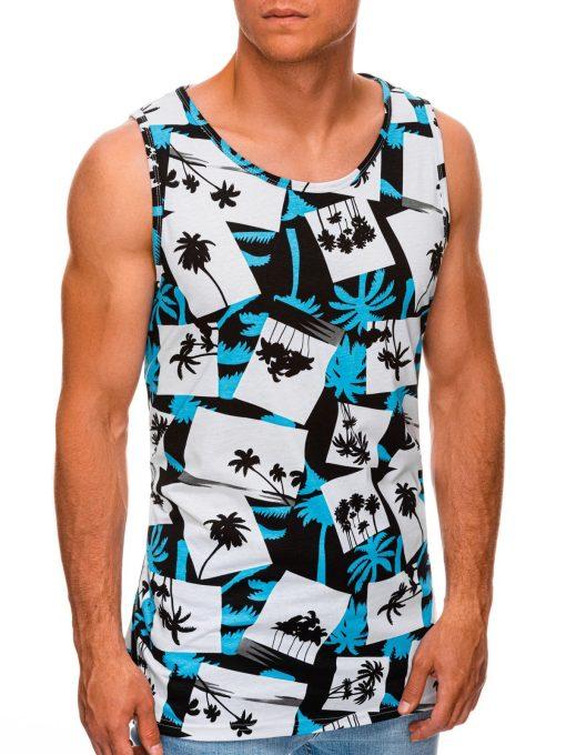 Mėlyni vyriški marškinėliai be rankovių internetu pigiau S1475 20396-3