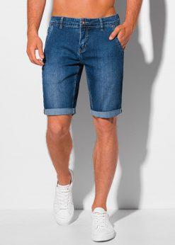 Mėlyni džinsiniai šortai vyrams internetu pigiau W349 20397-1