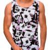 Rožiniai vyriški marškinėliai be rankovių internetu pigiau S1475 20399-1