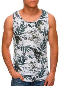 Gėlėti vyriški marškinėliai be rankovių internetu pigiau S1474 20403-1