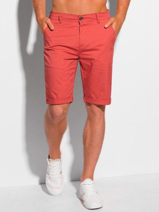 Raudoni klasikiniai šortai vyrams internetu pigiau W346 20404-1