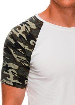 Vyriski marskineliai su kamufliazinemis rankovėmis internetu pigiau S1476 20439-3