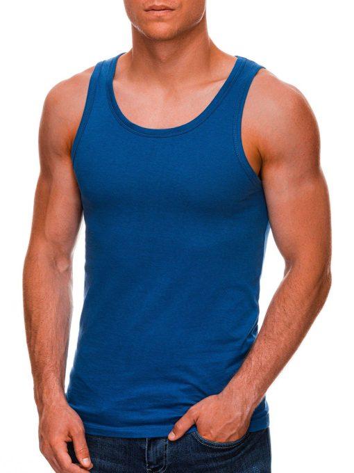 Mėlyni vyriški marškinėliai be rankovių internetu pigiau S708 20444-1