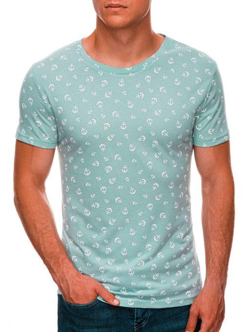 Mėtiniai vyriški marškinėliai su inkariukais internetu pigiau S1480 20457-1