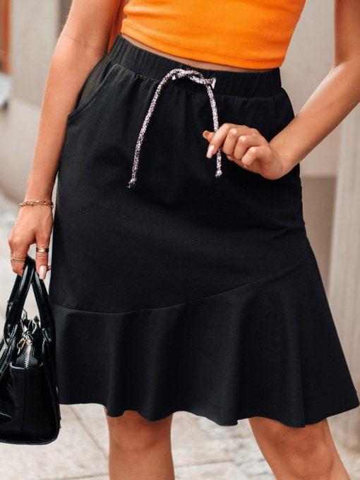 Juodasmoteriškas sijonas su raukinukais internetu pigiau GLR015 20541-3