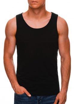 Juodi vyriški marškinėliai be rankovių internetu pigiau S708 3968-1