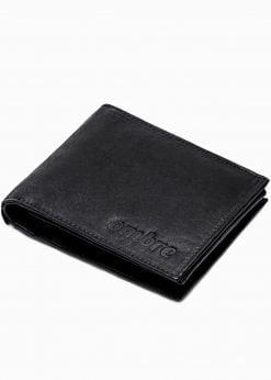 Juoda odinė vyriška piniginė internetu pigiau A302 16212-1