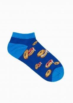 Trumpos vyriškos kojinės su paveiksliukais internetu U130 17299-1