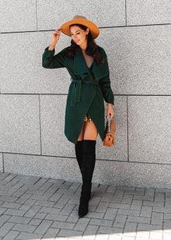 Žalias moteriškas paltas internetu pigiau CLR011 20802-1