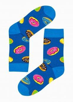 Mėlynos vyriškos kojinės su paveiksliukais internetu U192 20823-4