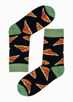 Juodos vyriškos kojinės su paveiksliukais internetu U191 20824-4