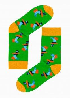 Žalios vyriškos kojinės su paveiksliukais internetu U188 20828-1