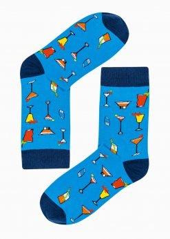 Mėlynos vyriškos kojinės su paveiksliukais internetu U186 20830-1